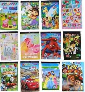NEW-STICKERS-BOOK-FROZEN-SPIDERMAN-PARTY-ALPHABET-BIRTHDAY-TOYS-CHRISTMAS-KIDS-f