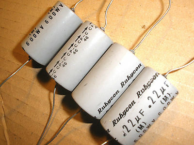 Two (2) Rubycon Paper Capacitor 0.22uf 600 V fr SE 45 2A3 300B 50 2a3h Tube Amp