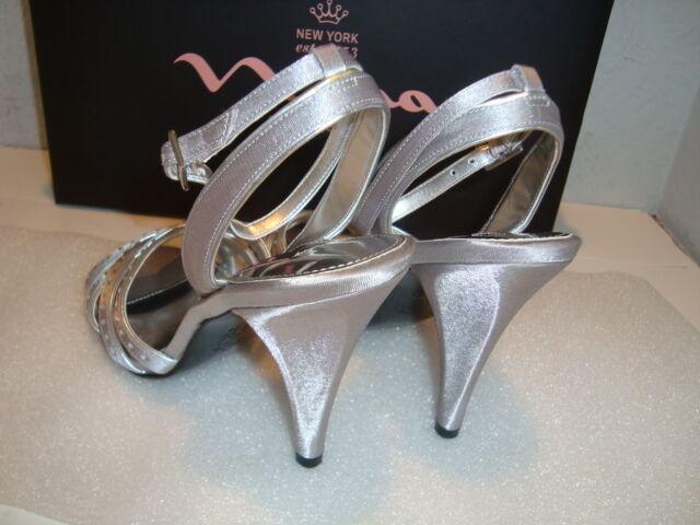 Nina New York Para Mujer Nuevo Con Caja Tacones Deana Royal plata Tacones Caja Zapatos 6 Medio Nuevo 29eb5e