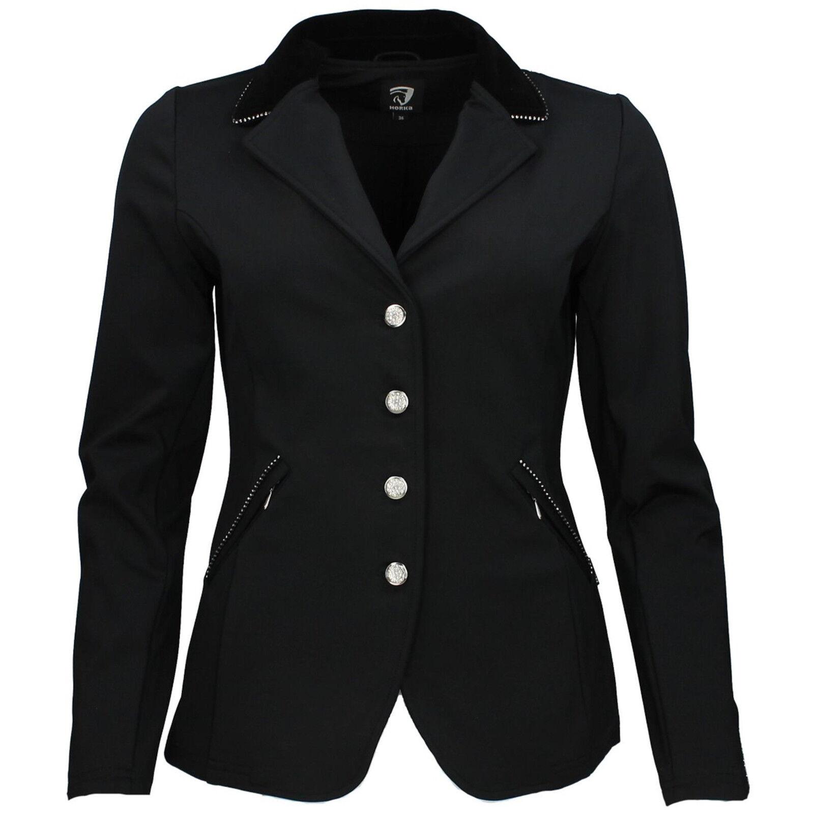 Horka señora reitsakko, Softshell, negro, pedrería, talla talla talla 38, Victory 886b8a