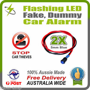2pcs-BLUE-5mm-Flashing-LED-Fake-Dummy-Car-Alarm-Light-STOP-THIEVES