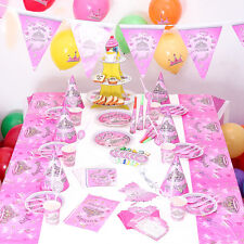 90 PCS  Birthday Wedding Party Decor & Supplies Sets For The Dream Princess