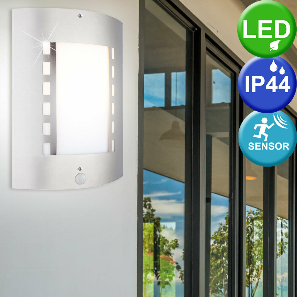 Applique extérieure LED 9,5 watts luminaire mural éclairage senseur inox jardin