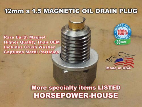 12mm MAGNETIC CRANKCASE OIL PLUG 06-19 KAWASAKI CONCOURS 14 ZG1400 NINJA 10R 14R