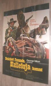 A0 Filmplakat  BEICHTET FREUNDE HALLEJUUJA,  GEORGE HILTON   ITALO WESTERN