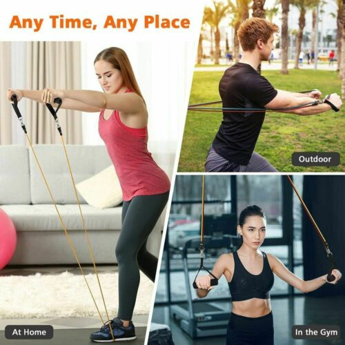 Yoga Exercise Elastic Resist Bands Home Sport Fitness Workout Training Pull Rope