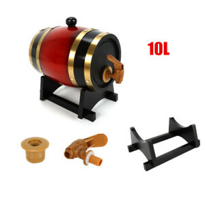 10L-Pine-Wood-Wine-Barrel-Aging-Wine-Whiskey-Spirits-Beer-Keg-Storage-Barrel
