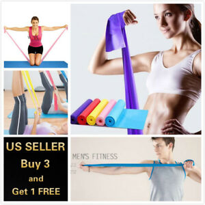 5-Feet-Stretch-Resistance-Bands-Exercise-Pilates-Yoga-GYM-Workout-Physio-Aerobic