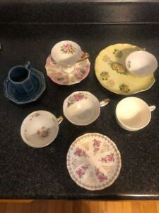 Mixed-Lot-Vintage-CUPS-amp-SAUCERS