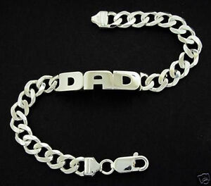 Image Is Loading 925 Sterling Silver Mens Dad Or Any Name