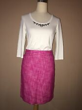 banana republic Pink White Lined Pencil Straight Skirt Sz.6-m