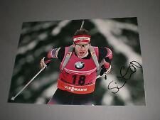 Simon Eder Österreich Biathlon signiert signed Autogramm auf 20x28 Foto in per.