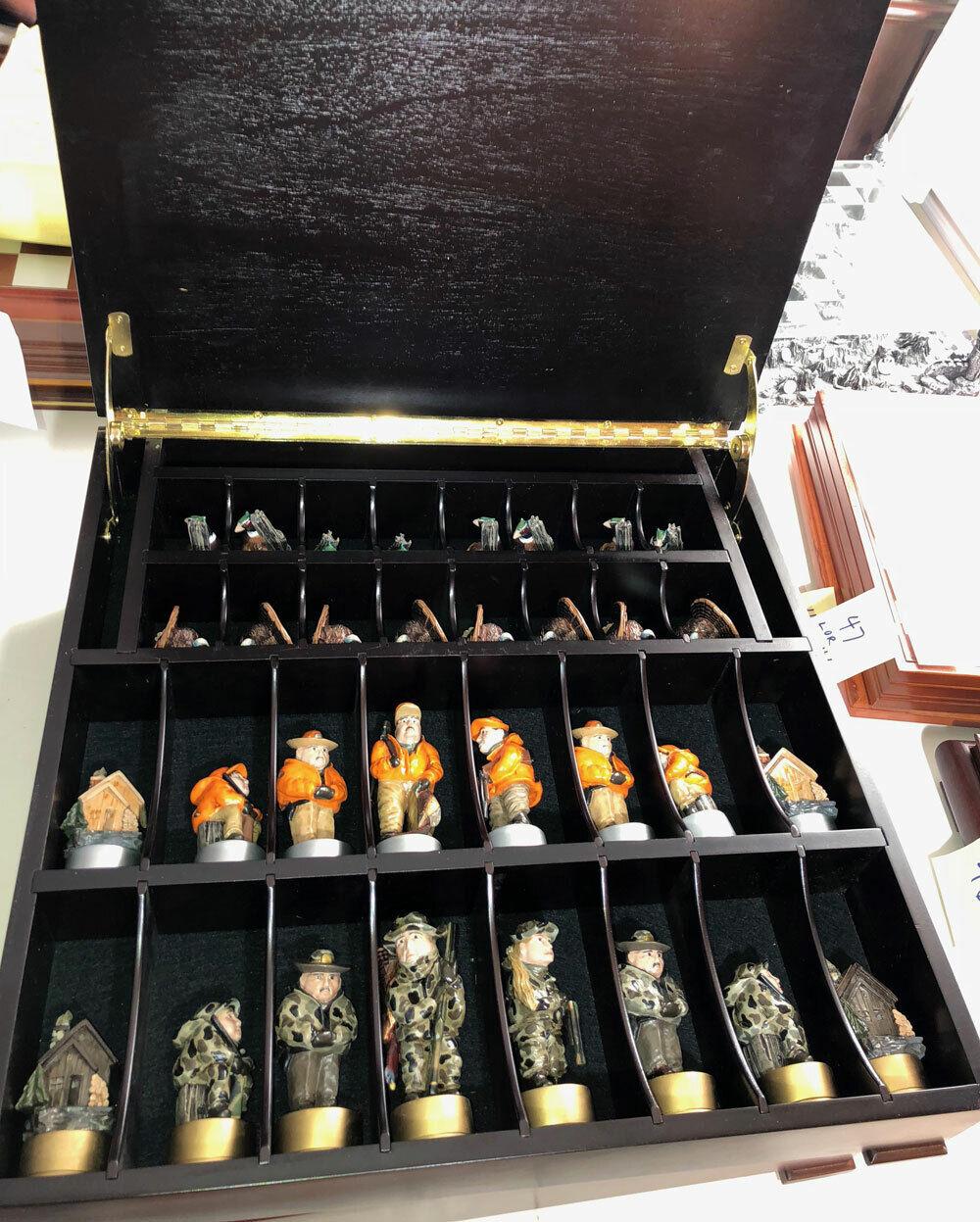 Heirloom Chess Set par lac Loon Decoy Co EX COND  la Turquie Faisan chasseurs  57