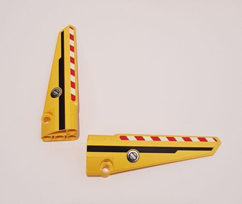 2x LEGO TECHNIC panel 64681 64393 tableau 5+6 jaune ailes 4558817 4558800