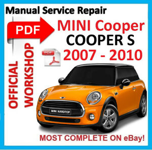 official workshop manual service repair for mini cooper s 2007 rh ebay co uk mini cooper s service manual pdf mini cooper s r53 workshop manual pdf