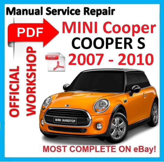 official workshop manual service repair for mini cooper s 2007 rh ebay com Mini Cooper Owner's Manual 2005 Mini Cooper Manual