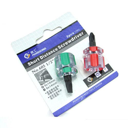 Screwdriver Mini Screw Driver Short Small Split Repair Tools Kit Set TDCA