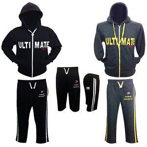 Neu-Prime-Sports-Herren-Durchgehender-Reissverschluss-Trainingsanzug-Kapuze-Hose