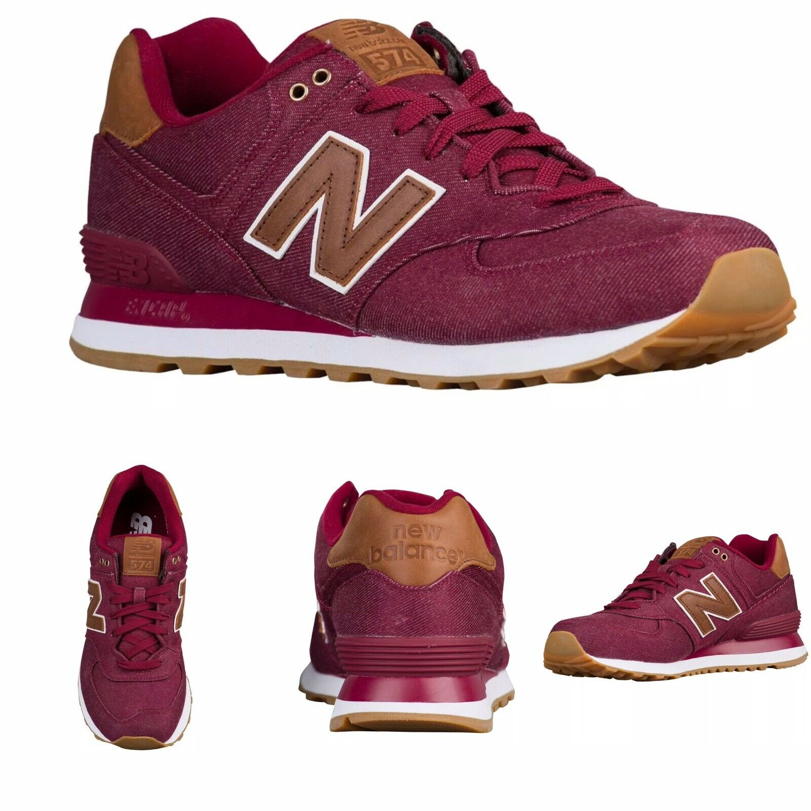 Men's  New Balance ML574TXD  Beet Red Canvas  Lifestyles shoes NEW  Size us 10.5