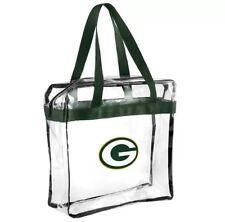 NFL Green Bay Packers Clear Zipper Massenger Bag Stadium Approved