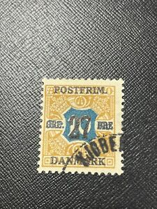 Denmark Scott 144 Used Surcharged - Free US Shipping