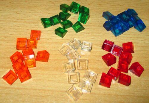 54200 Lego Dachstein 1x1x2//3 transparent klar,orange,rot,blau,grün 50 Stück