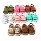 Summer Long Tassel paragraph soled sandals baby shoes soft soled baby sandals