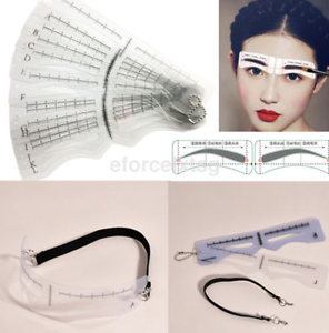 12pc Eyebrow Shaper Template Stencil Shaping Brow Grooming Makeup US ...