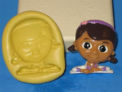 Doc McStuffins 2D Push Mold Candy Making Silicone Cake Pop Topper Resin A574