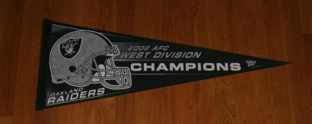 2002 Oakland Raiders AFC Western Division Champs pennant Rich Gannon