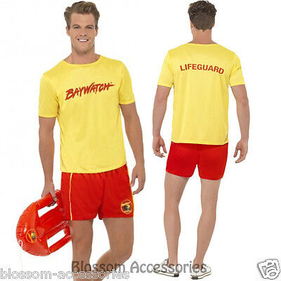 CL176 Baywatch Men's Beach Costume Party Top Short Licensed Costume Outfit