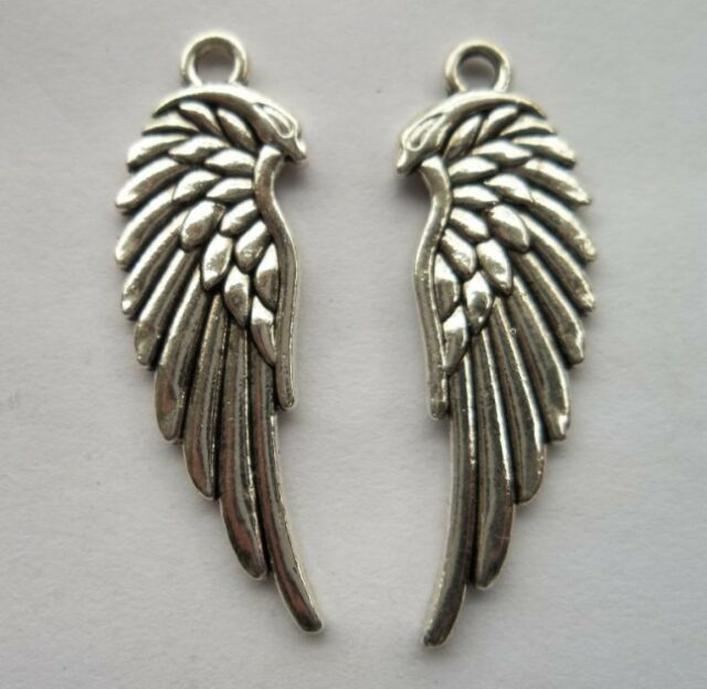 20pcs Tibetan silver feather charms pendant  33x10 mm