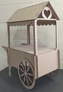 Y86-XXL-CANDY-CART-Trolley-Flat-Pack-Wedding-Unpainted-Sweet-Table-Display-Stand