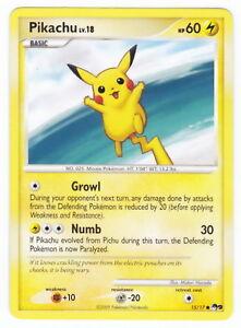 POKEMON • Pikachu Lv.18 • POP 9 CARTA PROMO NON HOLO POP9 15/17  NM