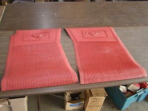 Nos oem ford 1965 1970 mustang red pony floor mats 1966 for 1965 ford mustang floor mats
