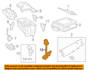 OEM 13627809334 Genuine New Crankshaft Position Sensor Part Fits For BMW