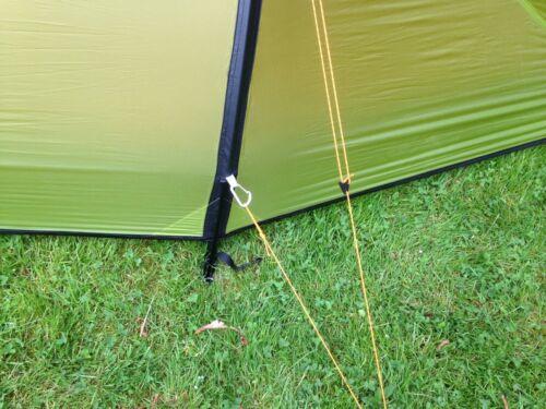 Army Green Guy Ligne Corde Pack de 4 cordes Tente Camping Camp Bâche De Sol Feuille