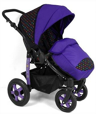 Baby Stroller Buggy Pram Pushchair  TOLO, Footmuff included. Very functional.