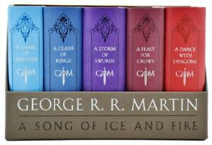 Game Of Thrones Book Collection Song Of Fire And Ice Series Leather Bound Set Us Ebay