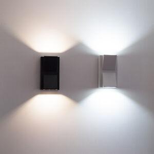 Applique-LED-per-esterni-faretto-doppia-luce-10w-lampada-muro-parete-cob-IP55