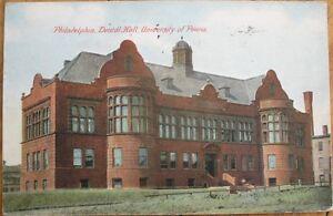 Philadelphia-PA-1909-Postcard-Dental-Hall-University-of-Pennsylvania-Penn