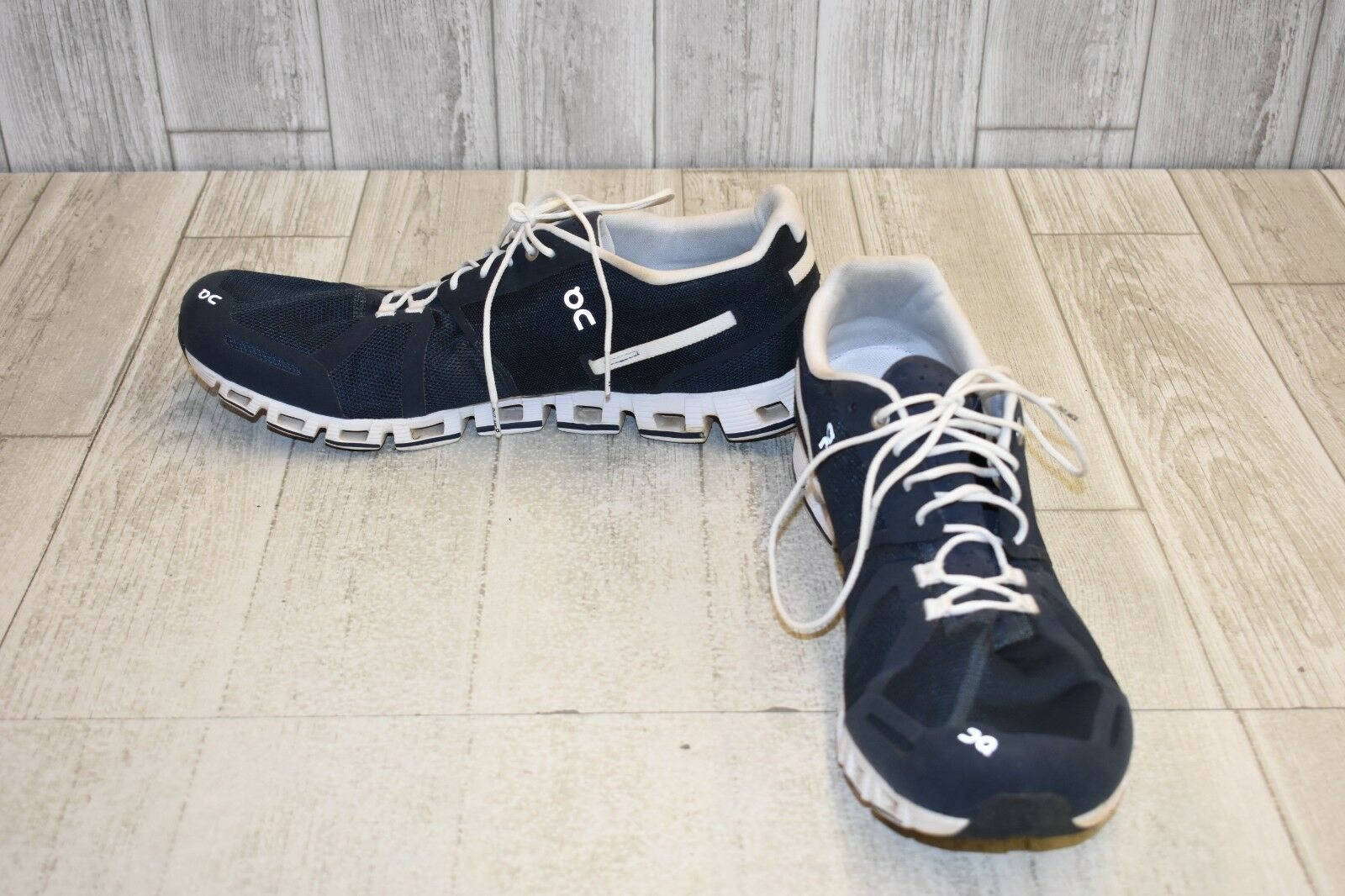 On Cloud Running Running Running scarpe - Uomo Dimensione 14 - bianca Navy 8ae574