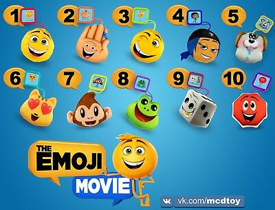 Emoji Movie Plus Toys from McDonalds Full Set of 8 Free Shipping Happy Meal 2017