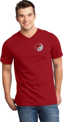 Yoga Clothing For You Yin Yang Pocket Print Important V-neck Yoga Tee Shirt
