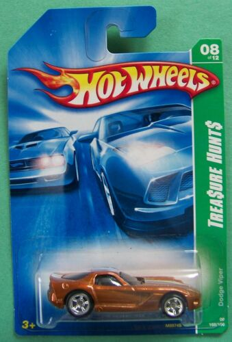 2008 Hot Wheels Treasure Hunt Reg /& Super Dodge Viper #168 Choice Lot