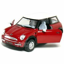 "Brand New 5"" Kinsmart Mini Cooper Diecast Model Toy Car 1:28 Pull Action Red"