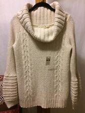 NEW! NWT Anthropologie Sleeping On Snow Alpaca Blend Cowl Neck Sweater sz M