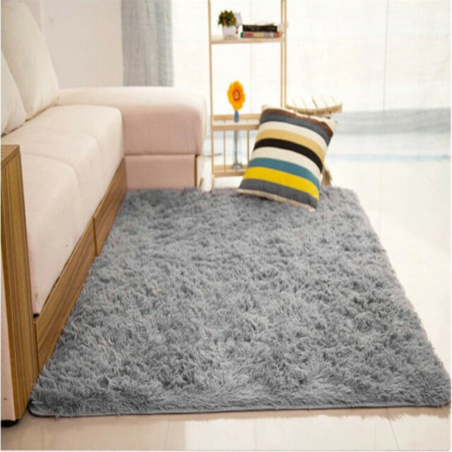 fluffy rugs anti skid shaggy area rug dining room home carpet floor rh ebay com Dining Table Floor Mats dining room floor mats uk
