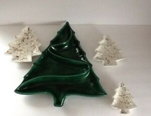 Vintage Ceramic Christmas Tree Atlantic Mold.Details About Atlantic Mold Christmas Tree Ceramic Candy Dishes Snack Trays Vintage