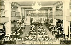 Image Is Loading Mills Restaurant Interior Tables Cleveland Ohio Vintage  B W